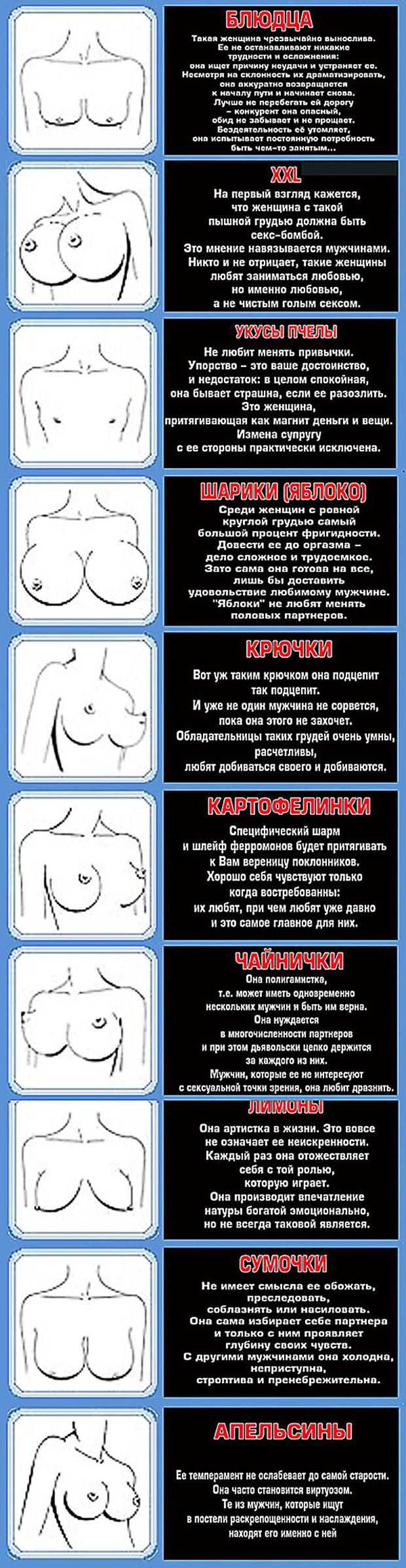 Типы женских грудей в фото 11 фотография