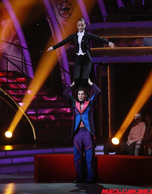 Владимир Ткаченко с акробатическим трюком