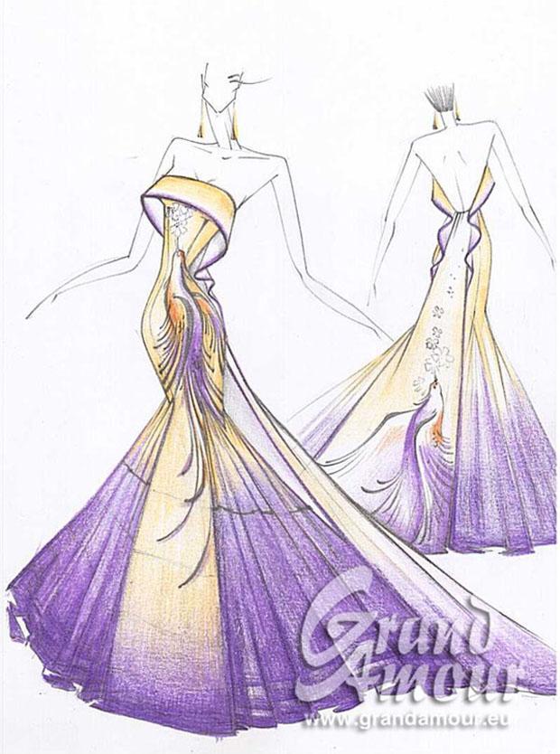Нарисуй эскизы платьев