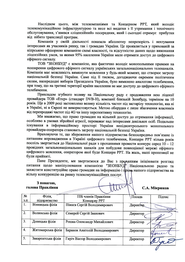 Концерн РРТ, Владимир Зеленский, Зеонбуд, Нацсовет